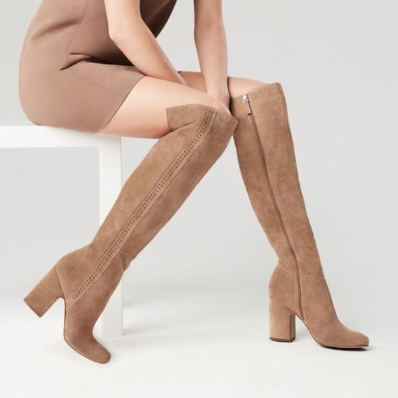 ecefa229b9e NEW Franco Sarto Laurel Over the Knee Suede Boots